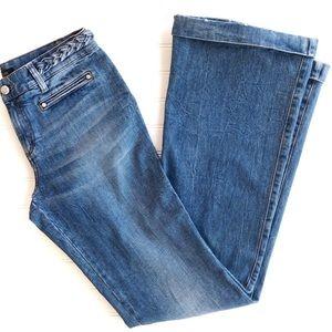 Roberto Cavalli High Waist Flare Wide Leg Jeans